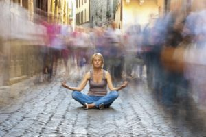 What should one think or concentrate on while meditating? 17