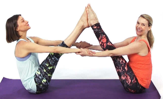 What are some fun partner yoga poses? 4