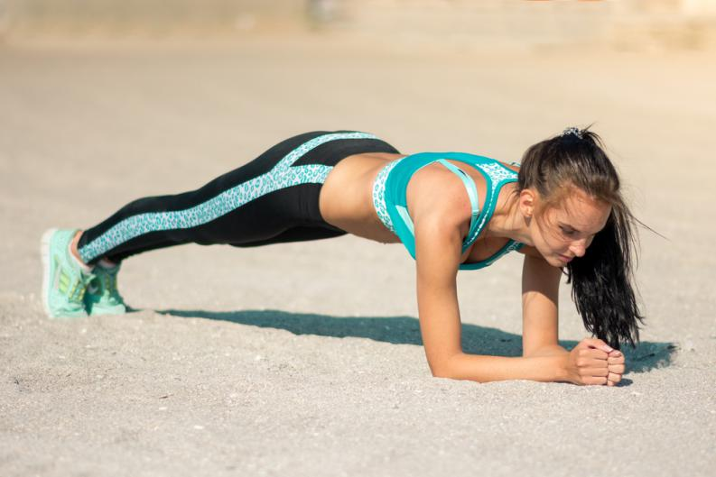 What is the advantage of the plank yoga exercise? 1
